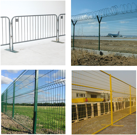Welded Mesh Fence Anti-Climb Fence Airport Fence Twin-Wire Panel Fence Roll Top Fence Temporary Fence Crowd Control Barrier